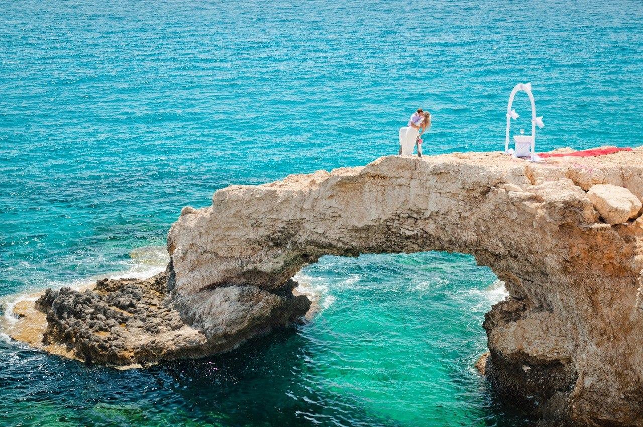 красивая свадебная церемония на кипре